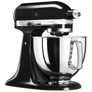 KitchenAid 5KSM125BOB Artisan 4.8L Tilt-Head Stand Mixer - Onyx Black