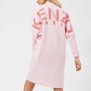 KENZO Women's KENZO Paris Logo Sweatshirt Dress - Flamingo Pink