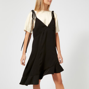 KENZO Women's Soft Crepe T-Shirt Slip Dress - Black