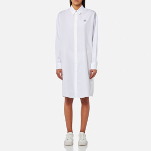 KENZO Women's Cotton Poplin Shirt Dress - White