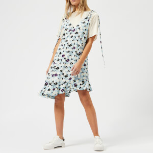 KENZO Women's Jackie Floral T-Shirt Slip Dress - Light Blue