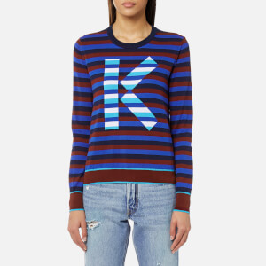 KENZO Women's K Stripes Jumper - Navy Blue