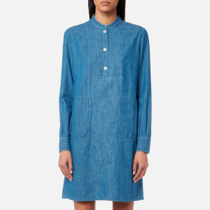 A.P.C. Women's Saffron Denim Dress - Indigo Delave