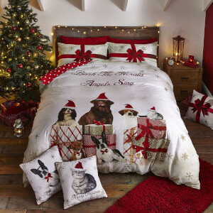 Catherine Lansfield Christmas Party Animals Duvet Set