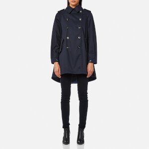 Woolrich Women's Military Trench Coat - Navy