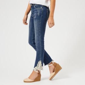 Armani Exchange Women's Denim Lace Jeans - Indigo Denim