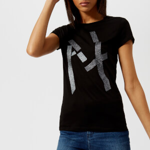 Armani Exchange Women's AX Logo T-Shirt - Black