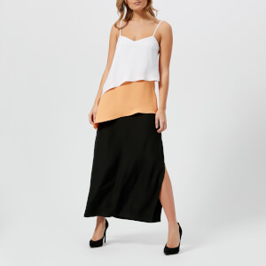 Armani Exchange Women's Colour Block Frill Dress - Papaya