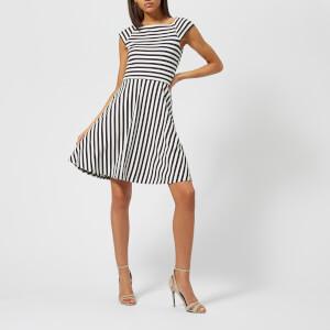 Armani Exchange Women's Striped Ponte Dress - Navy/White