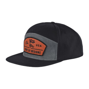Troy Lee Designs Finish Line Snapback Hat - Black/Blue