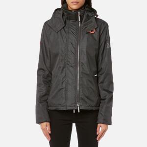 Superdry Women's Print Hood Arctic Windcheater Jacket - Rich Khaki Herringbone/Black
