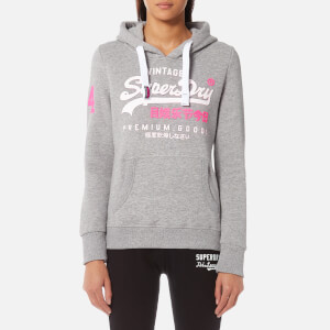 Superdry Women's Premium Goods Duo Hoody - Pearl Grey