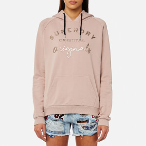 Superdry Women's Astible Graphic Hooded Sweatshirt - Orchid Blush