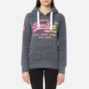 Superdry Women's Shirt Shop Fade Hoody - Eclipse Navy Snowy
