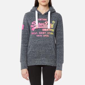 Superdry Women's Shirt Shop Fade Hoody - Eclipse Navy Snowy