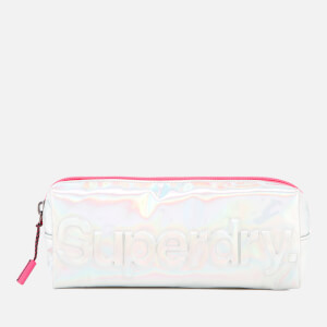 Superdry Women's Holographic Jelly Pencil Case - Silver