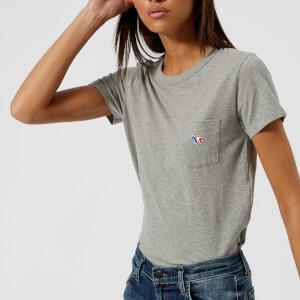 Maison Kitsuné Women's Tricolor Fox T-Shirt - Grey Melange