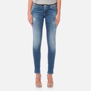 Emporio Armani Women's Dark Wash Skinny Jeans - Blue