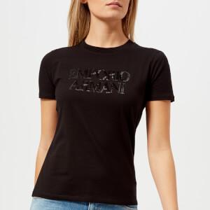 Emporio Armani Women's Logo T-Shirt - Black