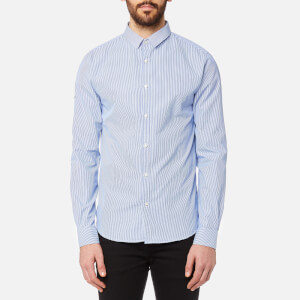 Superdry Men's Modern Classic Long Sleeve Shirt - Knightsbridge Chalk Stripe