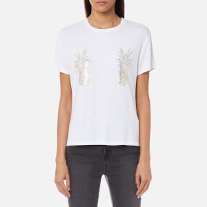 MINKPINK Women's Tropical Punch Foil T-Shirt - White
