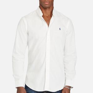 Polo Ralph Lauren Men's Cotton Poplin Slim Long Sleeve Shirt - White
