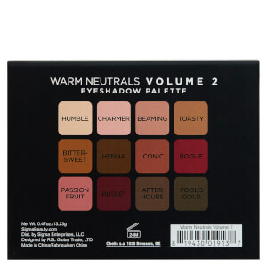 Sigma Warm Neutrals Volume 2 Eye Shadow Palette 12g: Image 2