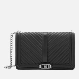 Rebecca Minkoff Women's Chevron Quilted Slim Love Cross Body Bag - Black