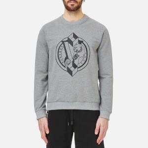 Versace Jeans Men's Chest Logo Sweatshirt - Grigio Medio