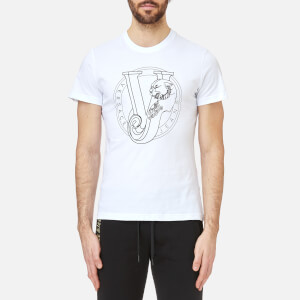 Versace Jeans Men's Round Logo T-Shirt - Bianco