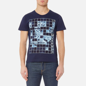 Versace Jeans Men's Square Print T-Shirt - Blu Avio