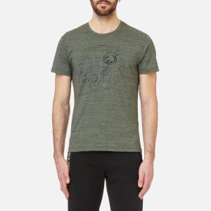 Versace Jeans Men's Round Logo Marl T-Shirt - Green