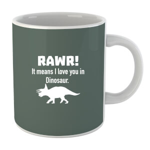 "Taza ""Rawr! It Means I Love You In Dinosaur"" - Gris"