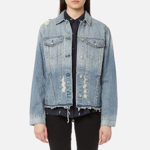 Rails Women's Knox Studded Denim Shirt Jacket with Studs - Medium Vintage