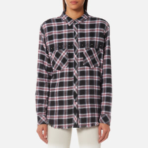Rails Women's Rex Shirt - Charcoal Berry Blush