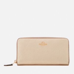 Coach Women's Accordian Zip Wallet - Platinum
