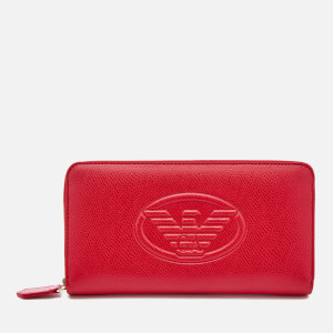 Emporio Armani Women's Zip Around Wallet - Red