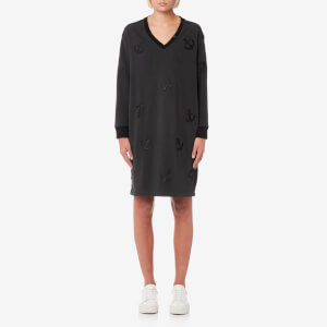 Maison Scotch Women's Woven Back Panel Sweater Dress - Black