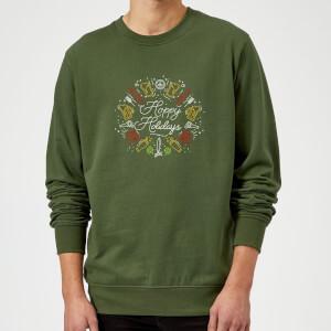 Hoppy Holidays Sweatshirt - Forest Green
