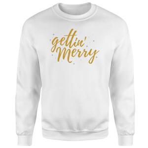 Gettin' Merry Sweatshirt - White