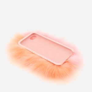 Charlotte Simone Women's Phone Fluff iPhone Case - Pastel Pink/Apricot: Image 3