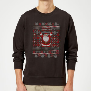 Merry Liftmas Sweatshirt - Schwarz