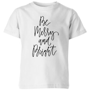 Be Merry and Bright Kids' T-Shirt - White