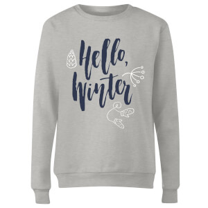 Hello Winter Women's Sweatshirt - Grey