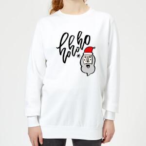 Ho Ho Ho Women's Sweatshirt - White