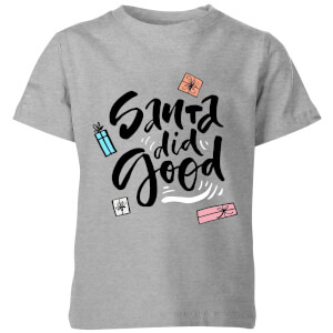 Santa Did Good Kids' T-Shirt - Grey
