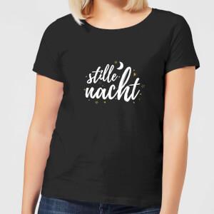 """Camiseta Navidad """"Stille Nacht"""" - Mujer - Negro"""
