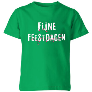 Fijne Feestdagen Kids' T-Shirt - Kelly Green