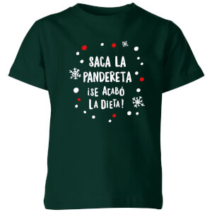 Saca La Pandereta Kids' T-Shirt - Forest Green