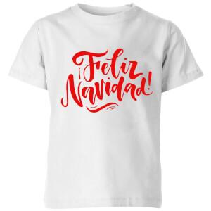 Feliz Navidad Kids' T-Shirt - White